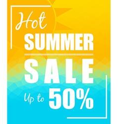 Hot Summer Sale with sun over triangular vector