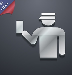 Inspector icon symbol 3D style Trendy modern vector