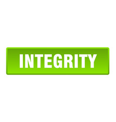 Integrity button integrity square green push vector