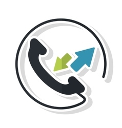 Isolated traditional phone design vector image