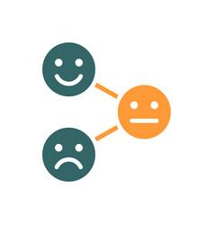 Level satisfaction colored icon range vector