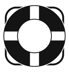 Lifeline icon simple style vector