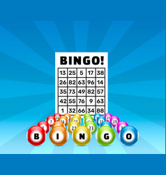 lottery bingo game balls with numbers vector image