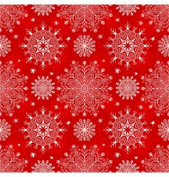 Merry Christmas red seamless pattern vector image