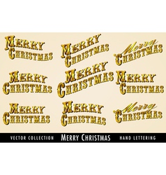 Merry Christmas text in Gold vector
