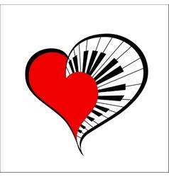 music heart vector image