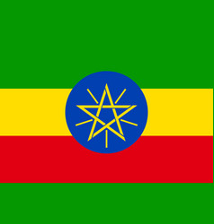 National flag of ethiopia vector
