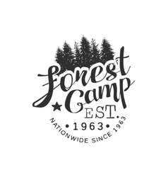 Nationwide Forest Camp Vintage Emblem vector