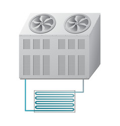 Outdoor and indoor unit chiller vector