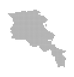 pixel map of armenia dotted map of armenia vector image