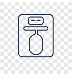 Punching ball concept linear icon isolated on vector