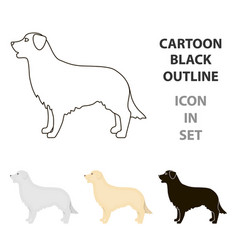 retriever icon in cartoon style for web vector image