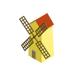 Rural windmill isometric 3d element vector