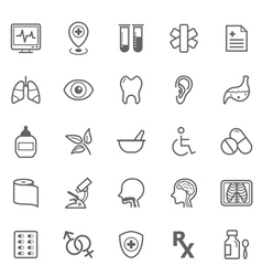 Set of Outline stroke Medical icons set 2 vector