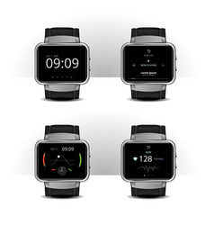 smart watch with digital display set vector image