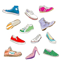 Sneaker sketches vector