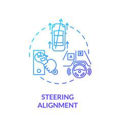 Steering alignment concept icon vector