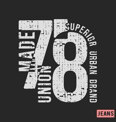 Superior urban brand t-shirt print design vector