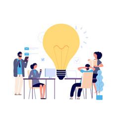 teamwork concept creative idea working process vector image