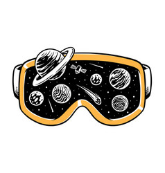Universe in my goggles vector