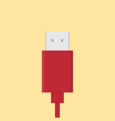 usb plug icon set of great flat icons use for vector image