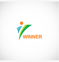winner logo vector image