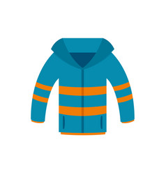 Winter jacket icon flat style vector