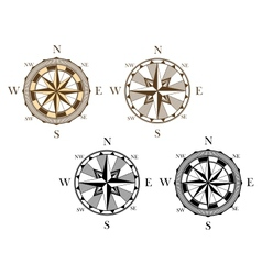 Ancient compass signs vector image vector image