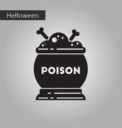 Black and white style icon halloween potion vector