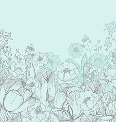 elegance floral background with graphic spring vector image vector image