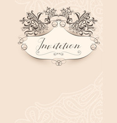 invitation vintage template vector image