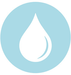 blood droplet within a circle icon vector image
