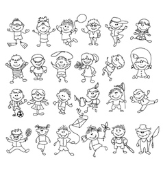Doodle children on vacation vector image