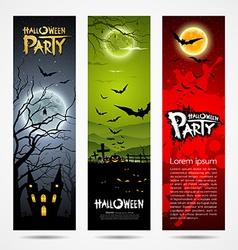 Halloween banners set design vector image vector image