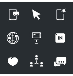 Icons Set of Selfie vector image vector image