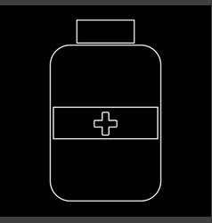 medicine bottle the white path icon vector image