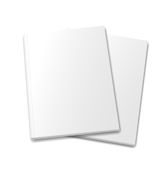 collection of various blank white books on white vector image vector image