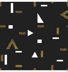 Gold geometric seamless pattern On black vector image
