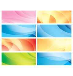 horizontal abstract colorful backgrounds vector image