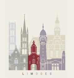 limoges skyline poster vector image vector image