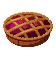 pie icon cartoon style vector image