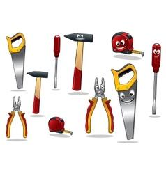 Set of DIY cartoon tools vector image