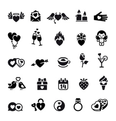set valentines day objects vector image vector image