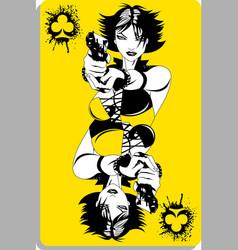 yellow joker vector image vector image