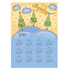 calendar with the dragon vector image