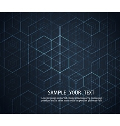 Dark abstract background Geometric design vector image