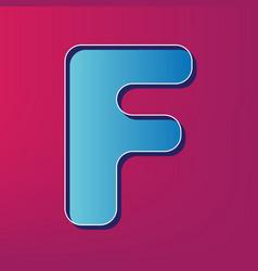 letter f sign design template element vector image