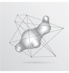 Metal liquid background vector image vector image