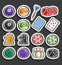 set of gaming and gambling equipment vector image