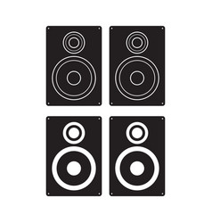 subwoofer icon loudspeaker box flat sign isolated vector image vector image